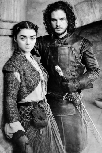 Game Of Thrones Wallpaper With A Surcoat And Polonaise Called Arya Stark Jon Snow