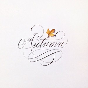 Autumn calligraphy