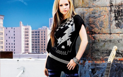Avril Lavigne پیپر وال possibly with a street, a sign, and a سب, سب سے اوپر entitled Avril Lavigne پیپر وال ♥