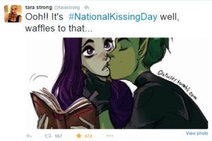 BBRae Tara Strong tweet NationKissingDay