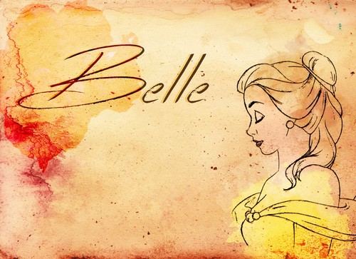 Beauty and the Beast wallpaper probably with a sign entitled Belle fan art