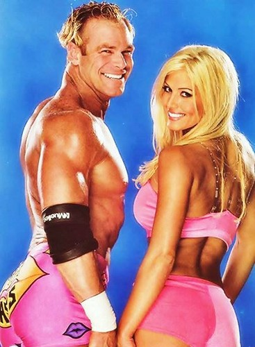 Torrie Wilson پیپر وال possibly with a bikini and attractiveness titled Billy Gunn and Torrie Wilson