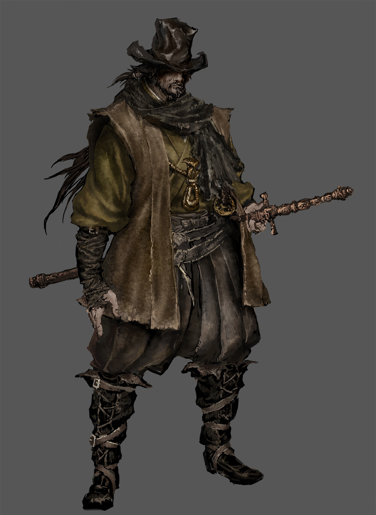 Bloodborne: The Old Hunters Concept Art