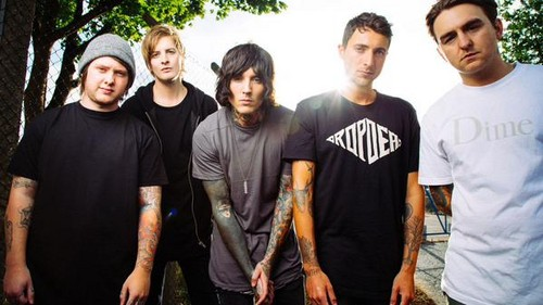 Bring Me The Horizon দেওয়ালপত্র entitled Bring Me The Horizon Upset Magazine Photoshot
