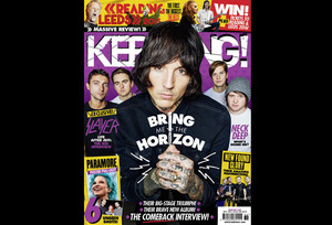 Bring Me The Horizon cover in Kerrang Magazine