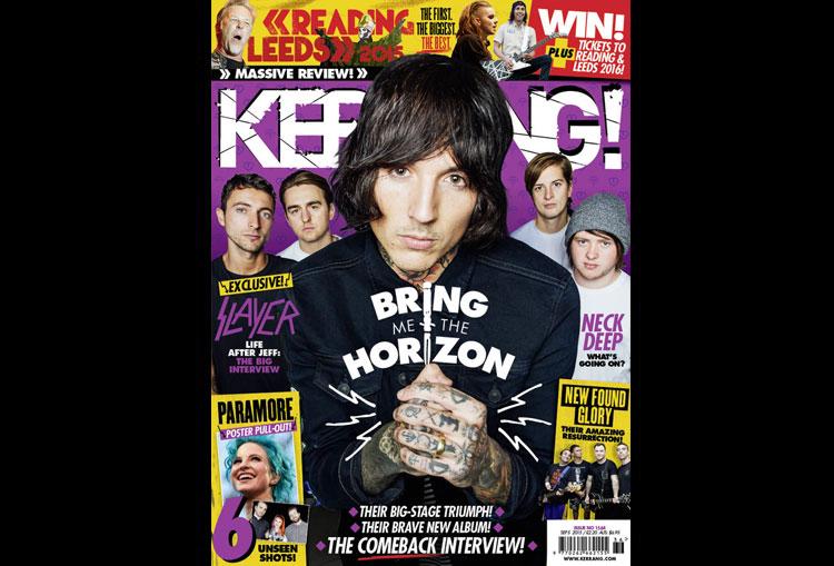Bring Me The Horizon cover in Kerrang Magazine