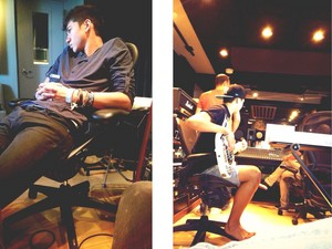 Calum in the Studio