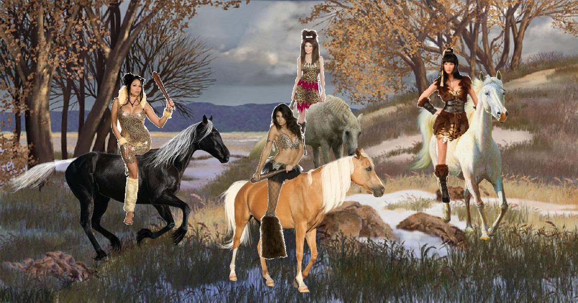 Cavewomen Riding On Their Beautiful Horses Girls And Horses Fan Art 38851824 Fanpop