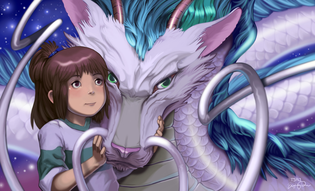Chihiro and Haku - Spirited Away Fan Art (38824496) - Fanpop