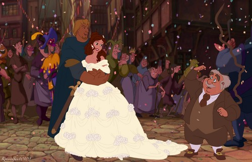 disney crossover wallpaper probably with a bridesmaid, a hoopskirt, and a polonaise titled Congratulations Kids!
