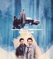 Dean and Castiel - supernatural fan art