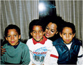 Diana ross and Michael's  nephews taryll, tj got his jackson 5 jumper on and taj  - michael-jackson photo