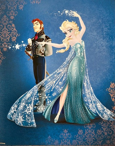 Frozen wallpaper possibly with a dinner dress titled Disney Fairytale Designer Collection - Frozen - Elsa and Hans