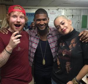 Ed, usher and Rita