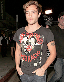 Ed Westwick leaving the Nice Guy Bar, in West Hollywood (09.01.15)