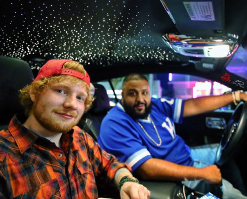 Ed Sheeran Wallpaper Possibly With An Automobile Entitled And Dj Khaled