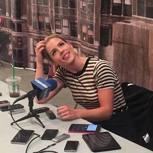 Emily on set