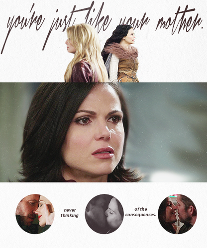 Once Upon a Time - Es war einmal... Hintergrund possibly with a sign and a portrait called Emma and Regina