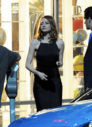 Emma on the set of La la land