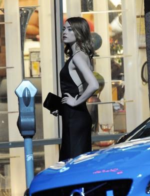 Emma on the set of La la land
