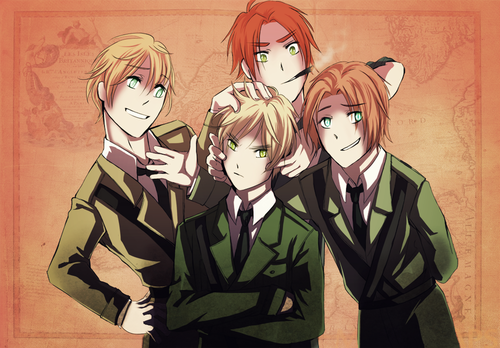 hetalia fondo de pantalla containing anime entitled England, Northern Ireland, Scotland and Wales