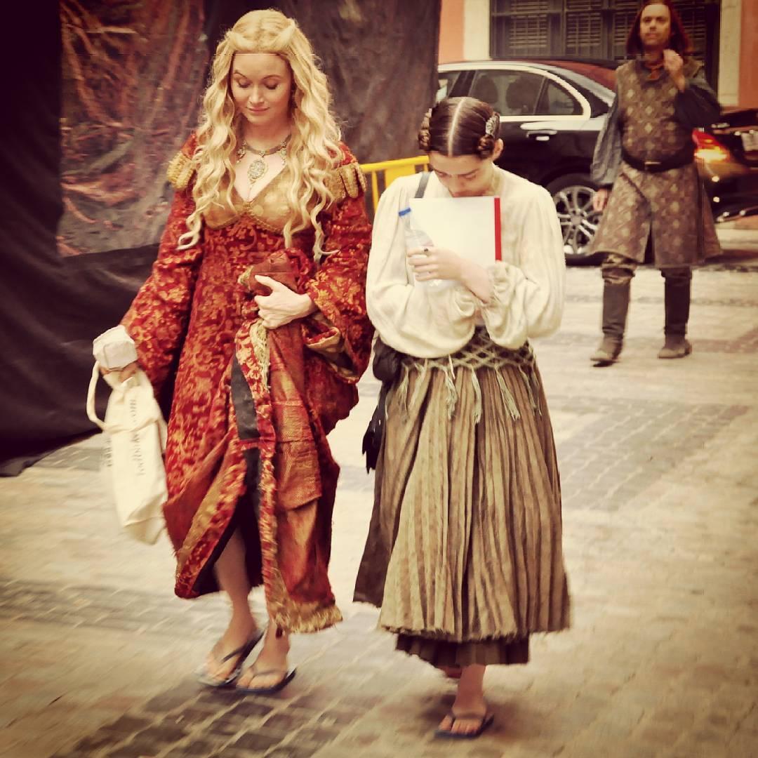 Essie Davis and Maisie Williams in Girona