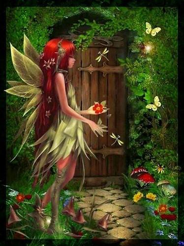 Fairies پیپر وال with a bouquet entitled Fairy