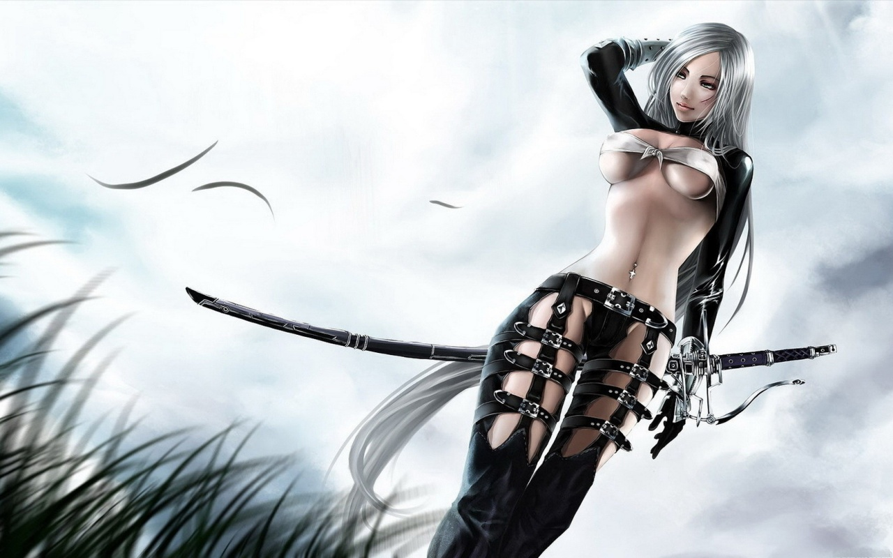 Manga warrior chick naked hd wallpaper nude clip