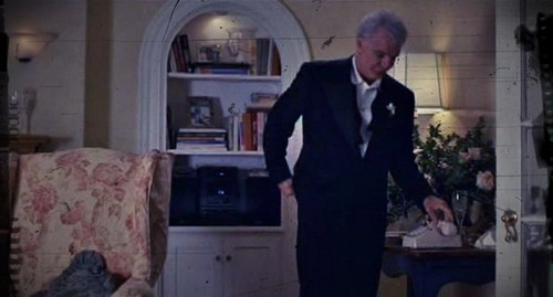Filme der 90er Hintergrund containing a business suit, a suit, and a well dressed person titled Father of the Bride (1991)