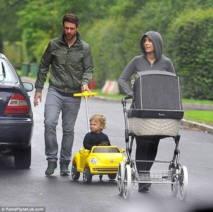 Frankie out for a walk with her family