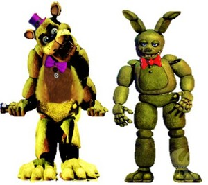 Fredbear and Springtrap - Five Nights at Freddy's photo