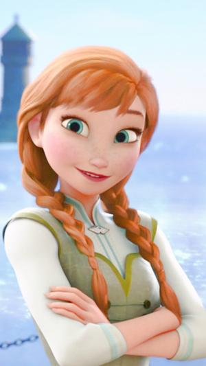 La Reine des Neiges Anna phone fond d'écran