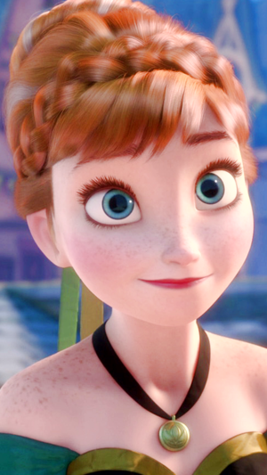 Frozen Anna phone wallpaper