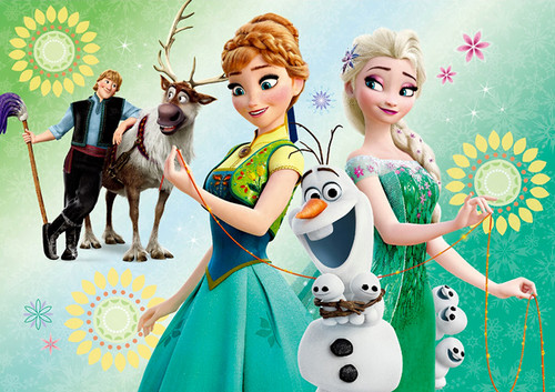 Frozen Fever Hintergrund probably with a bouquet and Anime called Frozen Fever