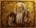 Gandalf and Frodo - lord-of-the-rings fan art