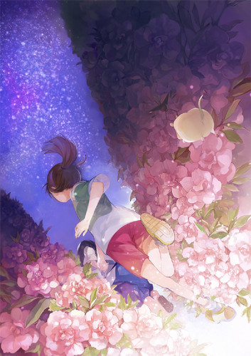 Spirited Away پیپر وال entitled Haku and Chihiro