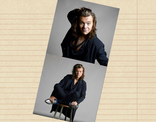One Direction wallpaper probably containing a business suit, a sign, and a well dressed person entitled Harry Styles