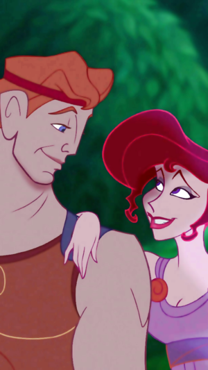 Hercules and Meg phone wallpaper