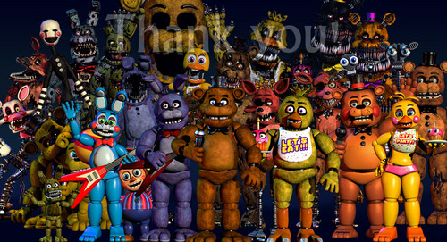 Five Nights at Freddy's پیپر وال probably containing عملی حکمت titled ارے look Scott updated his website again.