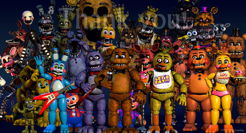 Five Nights at Freddy's kertas dinding possibly with Anime called hei look another update on Scotts page.