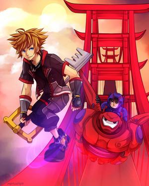 Hiro, Baymax and Sora