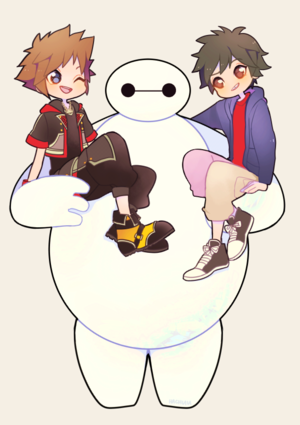 Hiro, Baymax and Sora