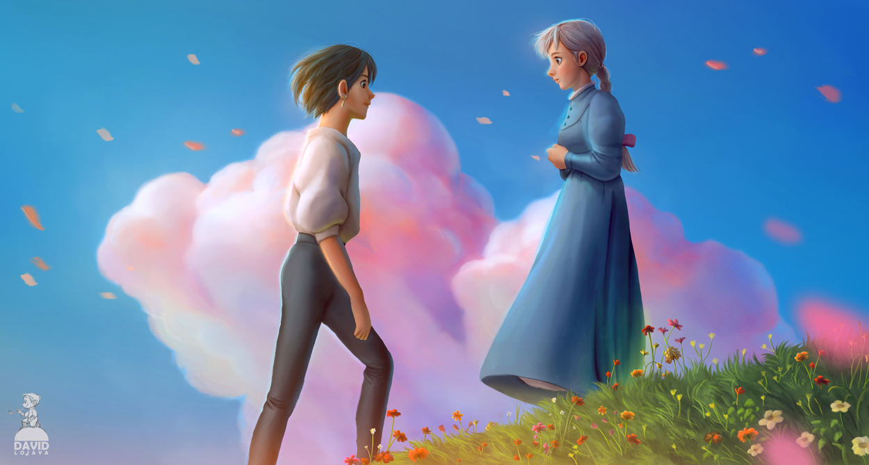 Howl and Sophie - Howl's Moving Castle Fan Art (38848461 ...