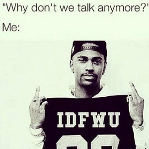 I don't give a f**k about you