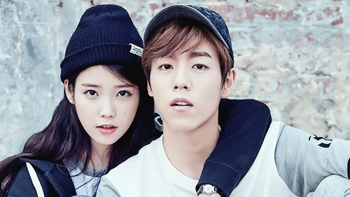 iu wallpaper probably with a portrait titled iu and LeeHyunWoo wallpaper 1920x1080