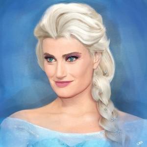 Idina as Elsa