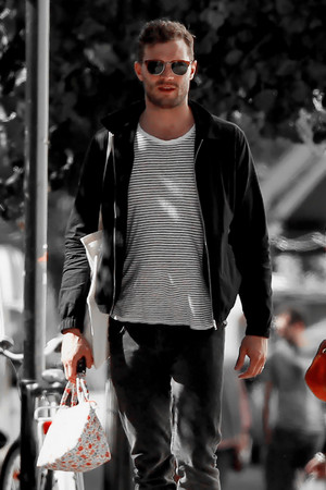 Jamie Dornan spotted with his family in London on September, 10