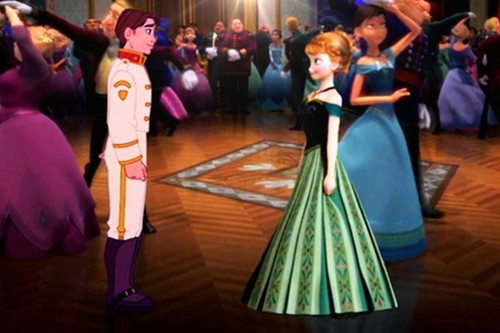 disney crossover achtergrond titled Jim and Anna