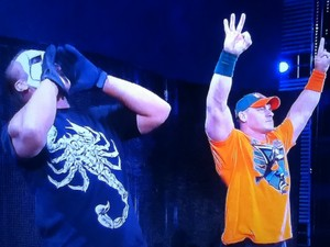 John Cena and Sting side by side