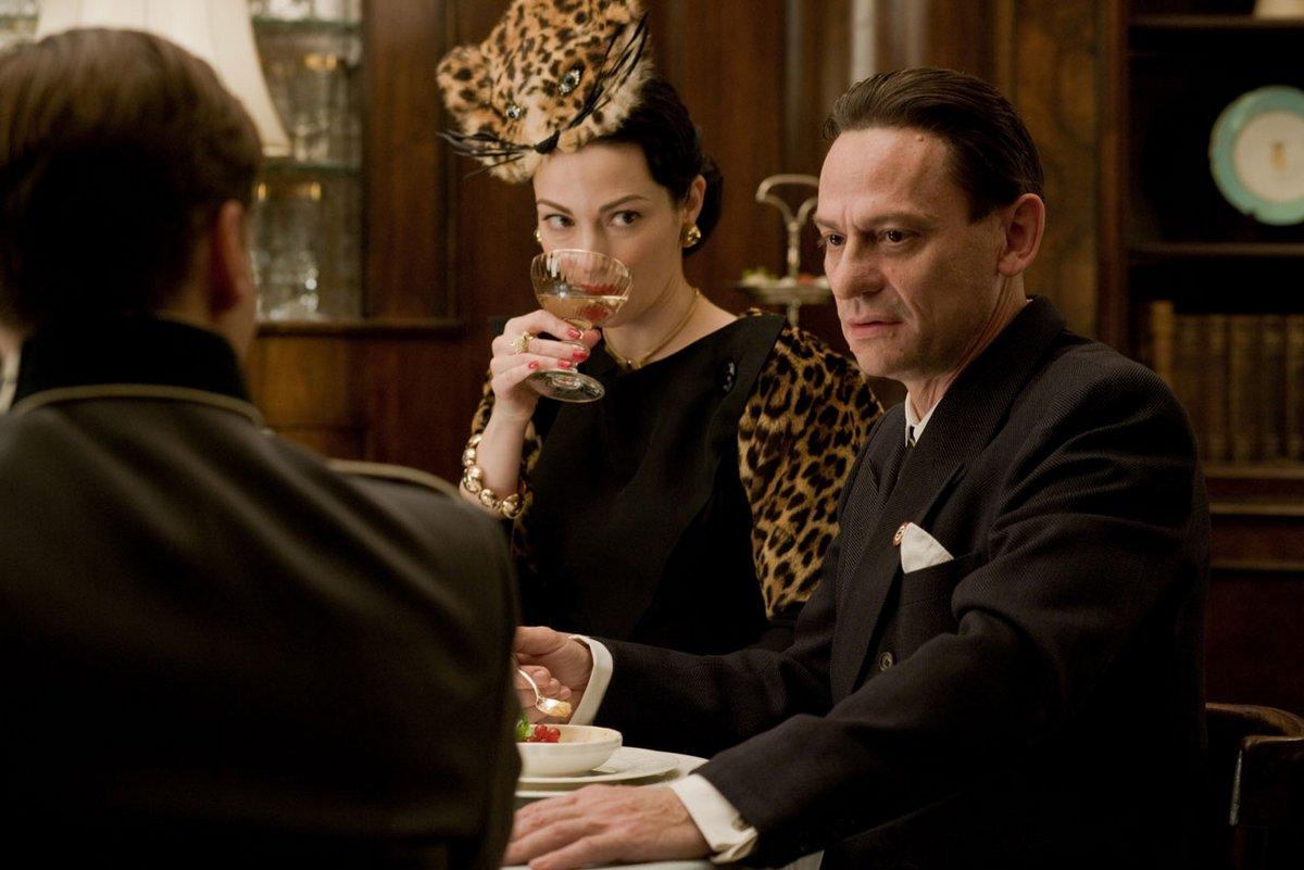 Julie Dreyfs as Francesca Mondino and Sylvester Groth as Joseph Goebbels